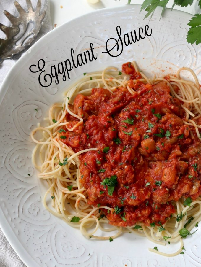 Spaghetti with Spicy Eggplant Sauce