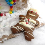 Gingerbread Man Cookie with White Chcolate by Angela Roberts