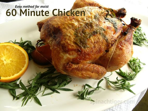 Cast Iron Cooking: One Hour Roast Chicken with Tarragon and Oranges