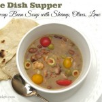 Snowcap Heirloom Bean Soup and homemade tortillas  by Angela Roberts