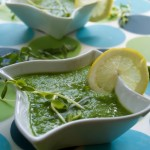Spring Pea Soup with a Pea Shoot Salad
