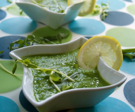 Fresh Pea Soup by Angela Roberts
