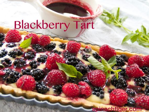 Blackberry Tart with Lime Basil by Angela Roberts