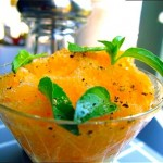 Melon Granita with Lime Basil by Angela roberts