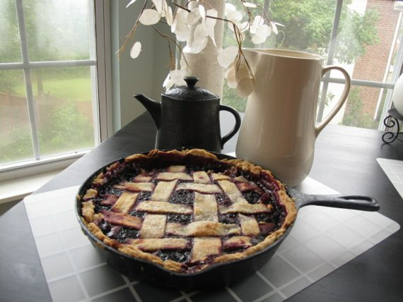 Blackberry Pie Crust Cobbler Served with Sass and Sugar