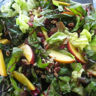 Swiss Chard, Nectarine and Toasted Pecan Salad