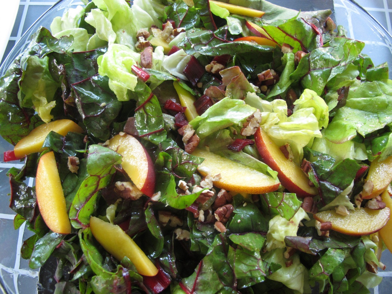 Swiss Chard Salad from Spinach TIger