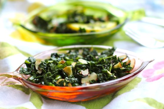 Chopped Kale Salad with Almonds, Lemon from Spinach Tiger
