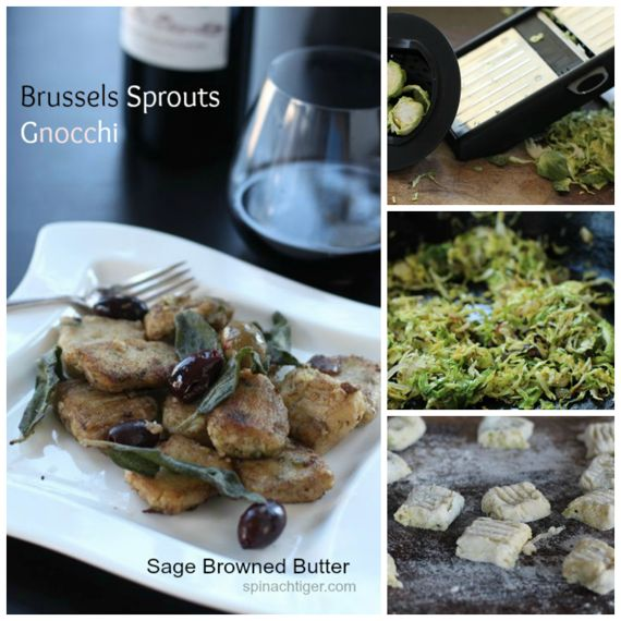 Brussels Sprouts Gnocchi with Sage Browned Butter Fried Sage by Angela Roberts