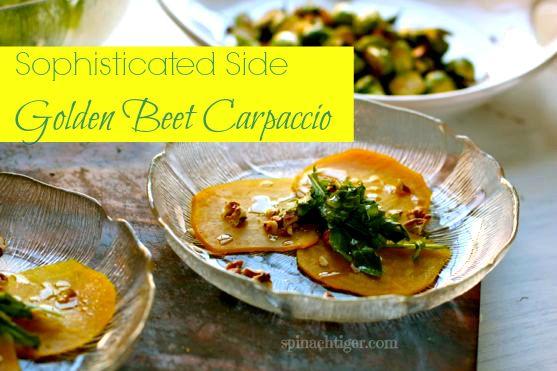 Roasted Golden Beet Carpaccio with Orange Walnut Vinaigrette