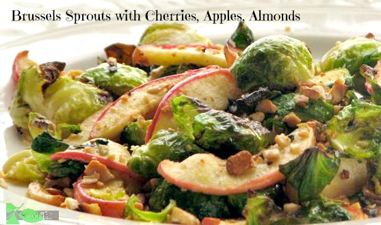 Brussels Sprouts with Dried Cherries Almonds