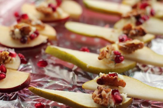 Pear BLue Cheese appetizer by angela roberts