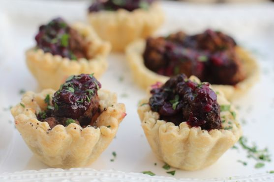 Meatballs with Blueberry Compote by Angela Roberts