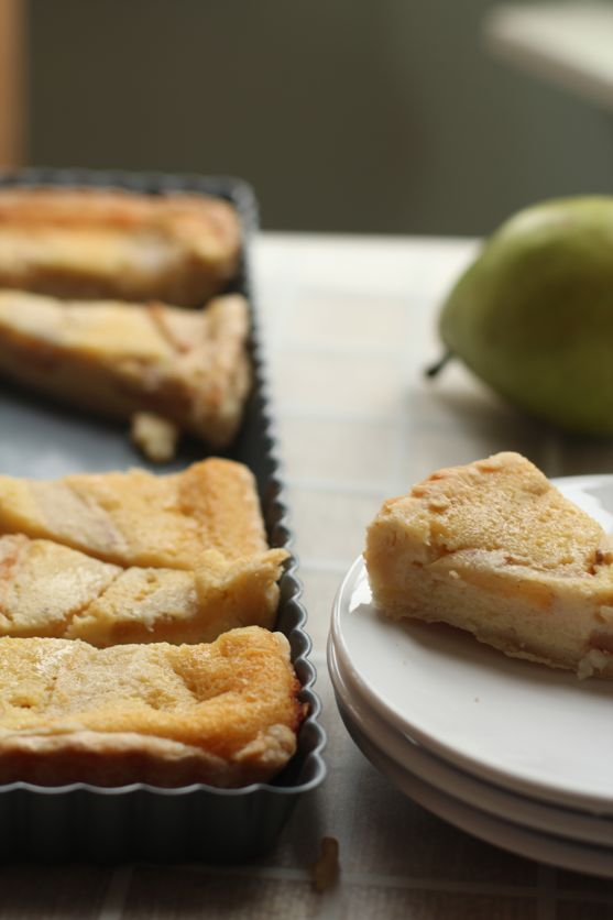 Vanilla Buttermilk PIe with Pears by Angela Roberts