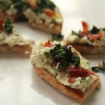 White Bean Crostini with Crispy Kale
