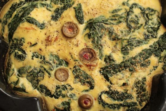 Kale and Green Olive Frittata