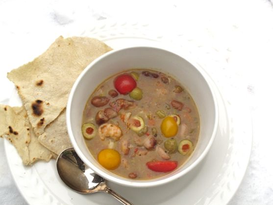 Snowcap Heirloom Bean Soup, Healthy Soup Recipes by Spinach Tiger