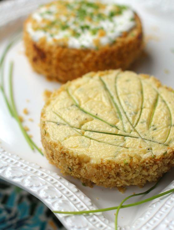 savory chive cheesecake with potato chip crust