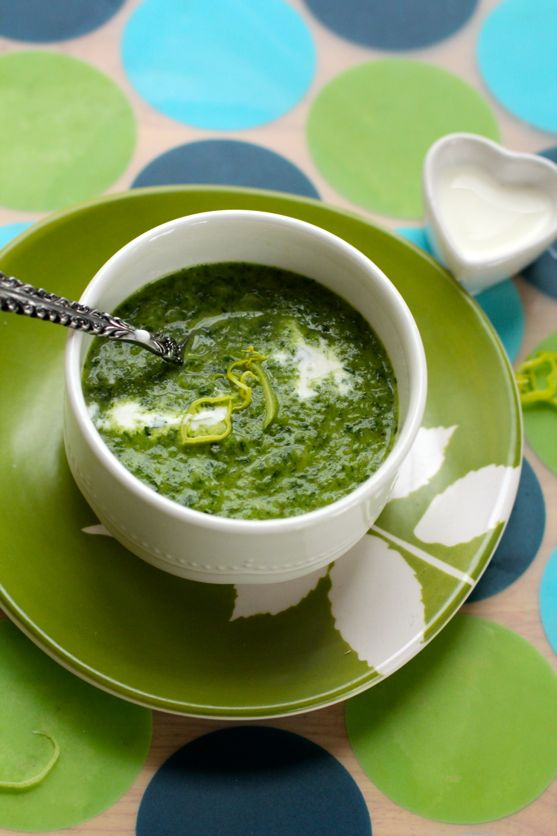 Green Potato Soup from Spinach Tiger