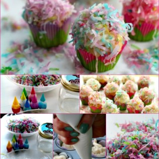 How to Color Coconut for the Prettiest Coconut Cupcakes
