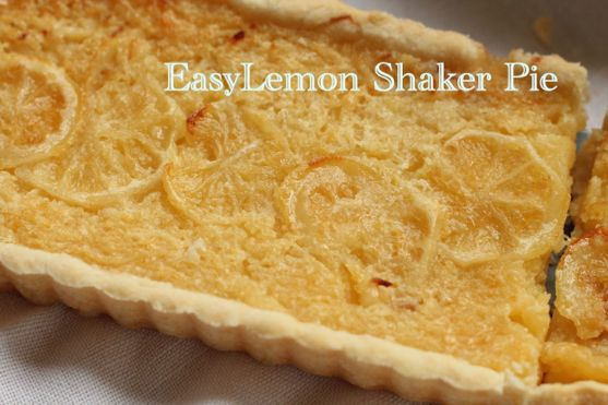 Meyer Lemon Shaker Pie