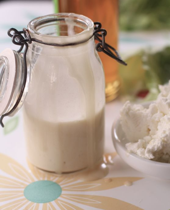 Honey Goat Cheese Salad Dressing