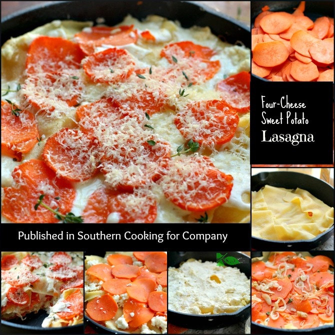 Four Cheese Sweet Potato Lasagna from Spinach Tiger via @angelaroberts