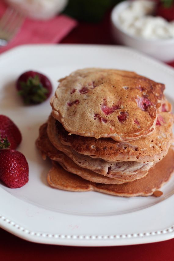 Healthy Strawberry Spelt Pancakes and Bradley Kountry Acres Strawberry Picking