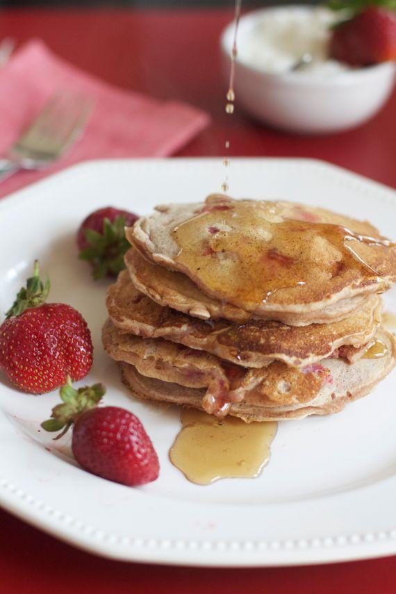 Strawberry Spelt Pancakes