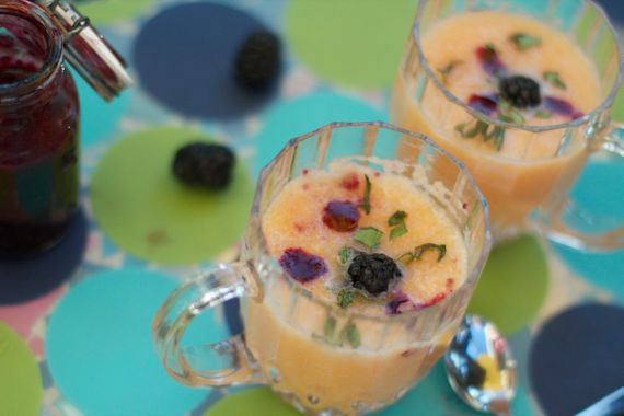 Chilled Cantaloupe Soup, Blackberry Drizzle, Basil ...
