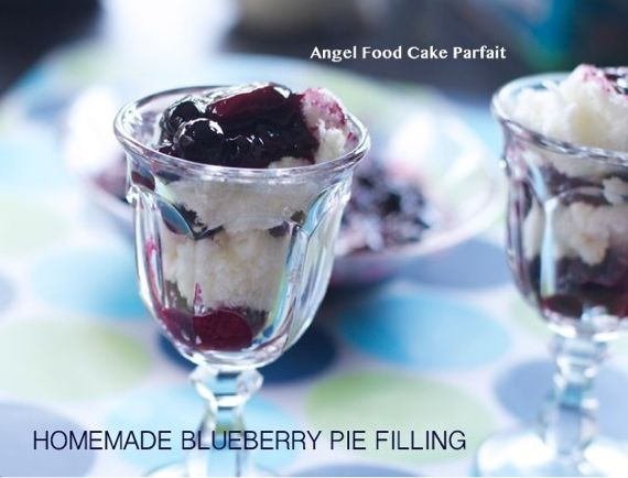 homemade blueberry cake filling