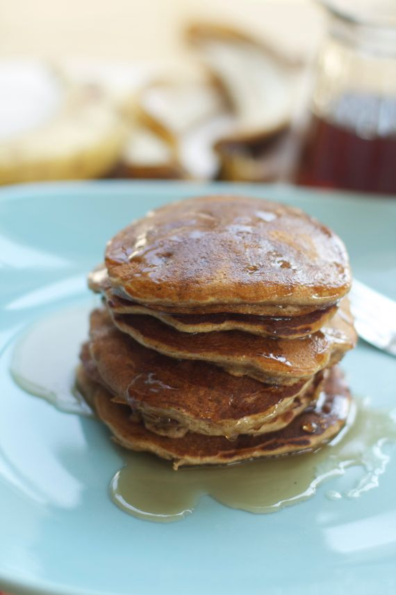 Post image for Healthy Honey Banana Spelt Pancakes