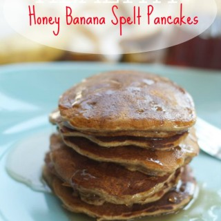 Healthy Honey Banana Spelt Pancakes