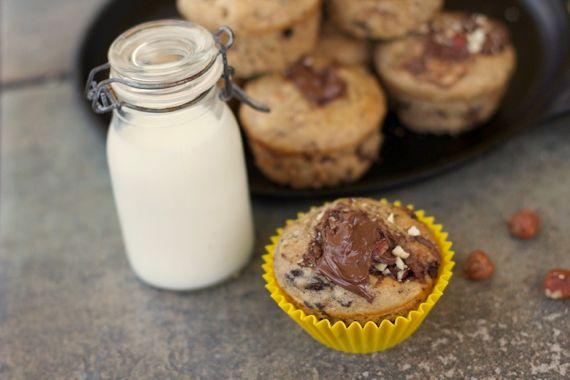 Banana Chocolate Chunk Nutella Muffins