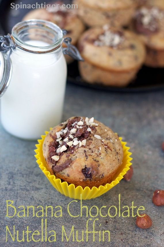 Post image for Banana Chocolate Chunk Nutella Muffins