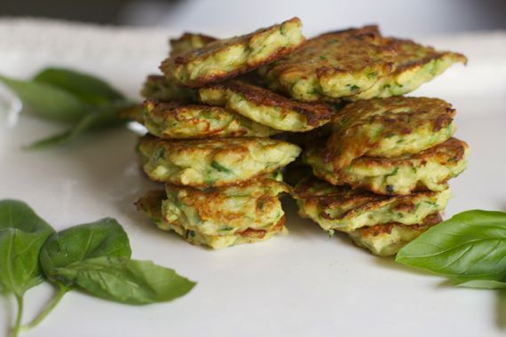 Zucchini Fritters via @spinachtiger