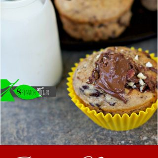 Banana Chocolate Chunk Nutella Muffins