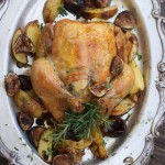 Roast Chicken with Figs, and Rosemary Potatoes