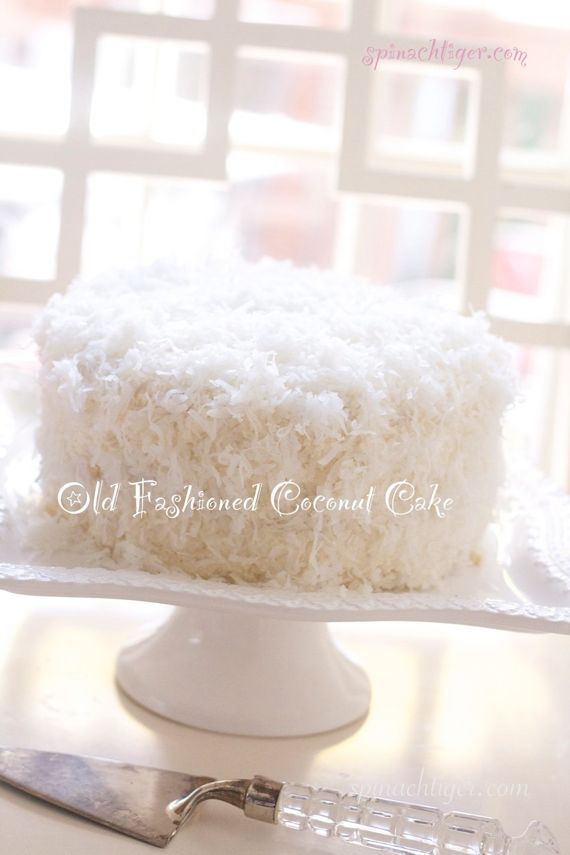 Old Fashioned Coconut Cake with Buttercream Frosting