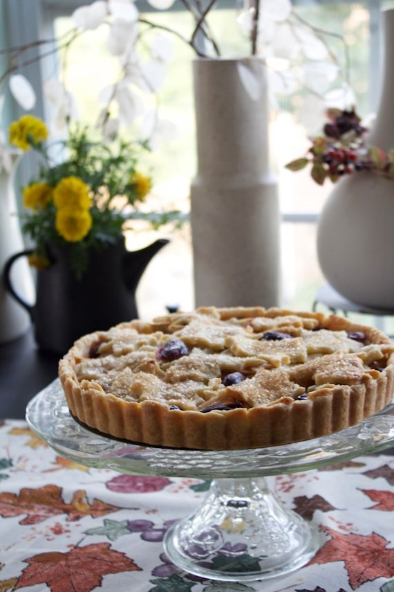 Post image for Apple & Grape Tart, for a Beautiful Holiday Pie Table
