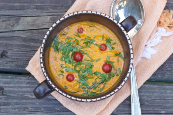Cramy Garden  Tomato Soup by Angela Roberts