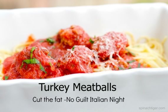Turkey Meatballs with Spaghetti