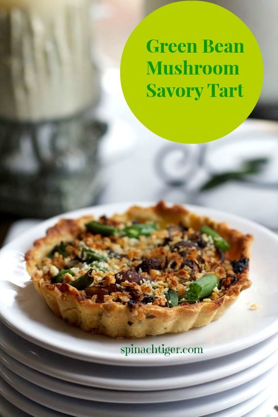 Green Bean Mushroom Onion Tart by angela roberts