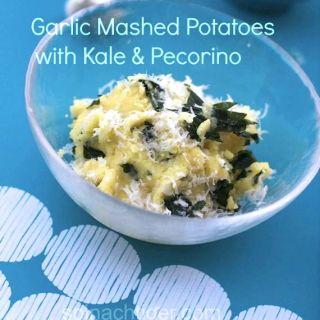 Kale Garlic Mashed Potatoes with Pecorino Cheese