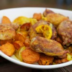 Chicken Thighs with Tumeric, Lemon, Sweet Potatoes