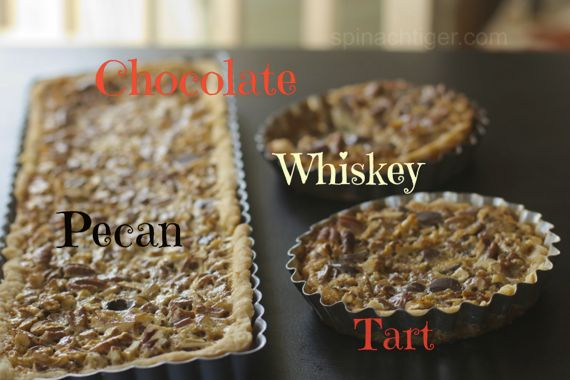 Chocolate whiskey pecan pie by Angela Roberts