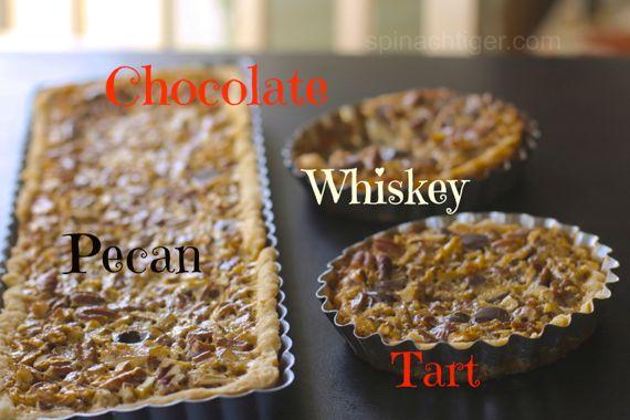 Chocolate Whiskey Pecan Tart or Steeplechase Pie