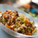 Butternut Squash and Brussels Sprouts by Angela Roberts