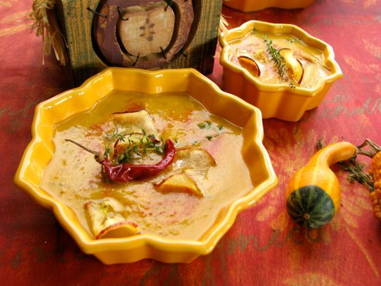 Spicy Maple Roasted Apple Soup by angela roberts
