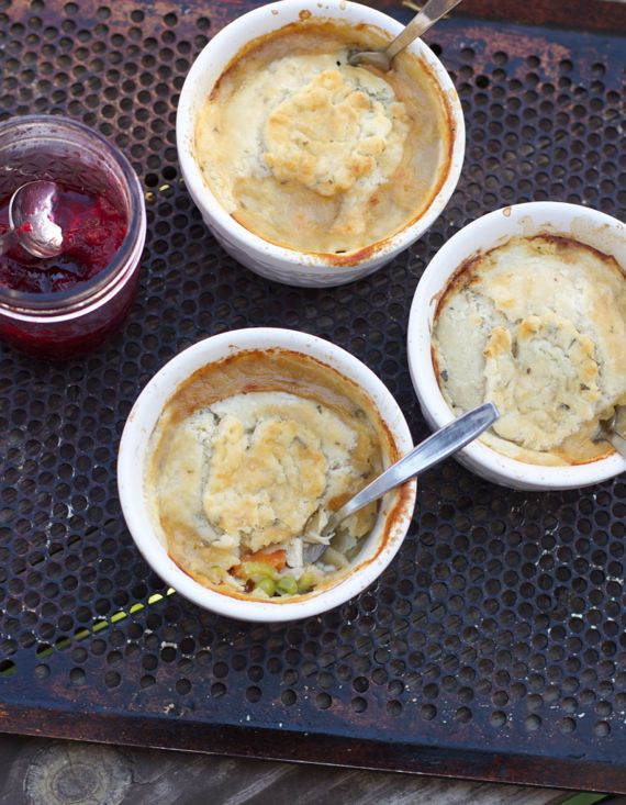 Post image for Easy Mini-Turkey Pies with Sage Pie Crust from Thanksgiving Leftovers